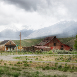The End Of Main Street by Cindy Taverne - Buildings & Architecture Decaying & Abandoned ( old, red, barn, old barn )