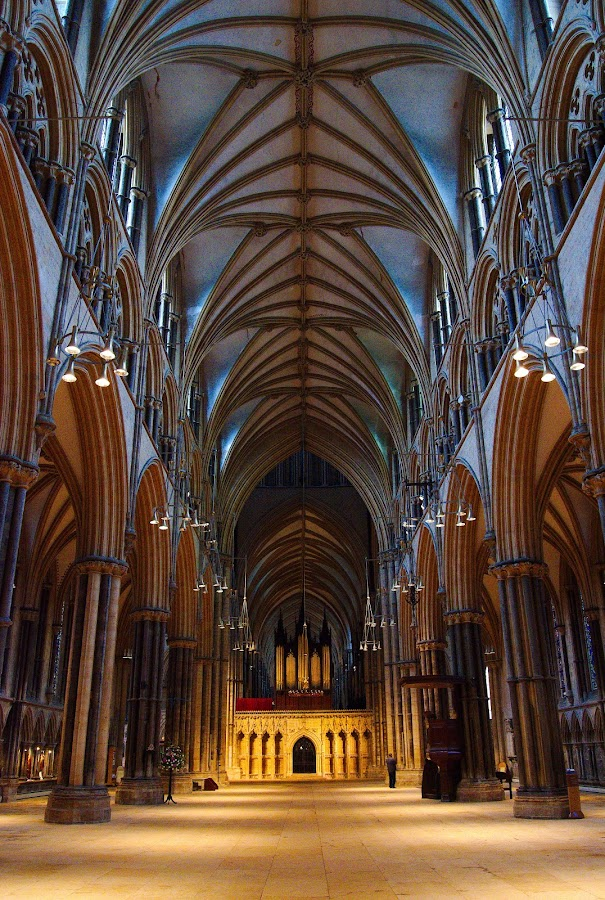 Lincoln Cathedral by David Drage - Buildings & Architecture Places of Worship ( building, church, vaulted, cathedral, architecture, light )