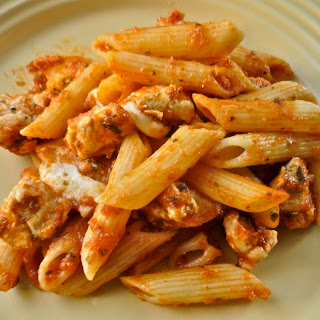 Mozzarella Chicken Pasta Bake