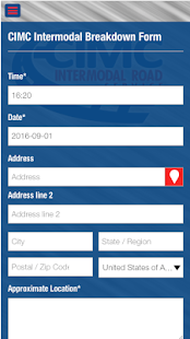 CIMC Intermodal Breakdown App - screenshot