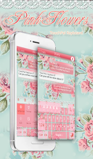 App Pink Flower Keyboard Theme APK for Kindle