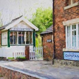 Signal Box by Dave Smith - Digital Art Things ( home, platform, station, oils, buildings, signal, house, landscape, painting, trains )