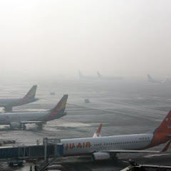 미세먼지 여파로 인천공항 무더비행기 결항