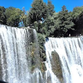 Waterfall in Jajce by Alesanko Rodriguez - Nature Up Close Natural Waterdrops ( water, seasonal, bosnia and herzegovina, europe, nature, balkan, jajce, waterfall, summer, trees, beauty, travel )