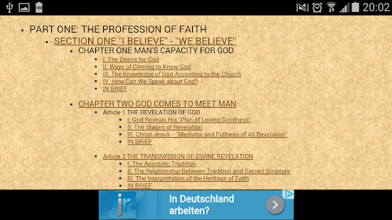 Catechism the Catholic Church - screenshot