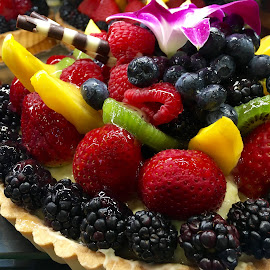 Berry and Fruit Tart by Lope Piamonte Jr - Food & Drink Cooking & Baking