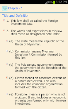 Myanmar Foreign Investment Law APK