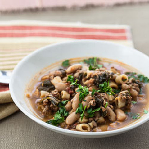 Italian Sausage, Kale, and Cannellini Bean Soup