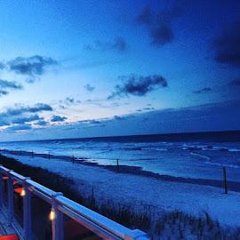 Beach Evening by David Plummer - Uncategorized All Uncategorized ( sand, sky, florida, daytona beach, ocean )