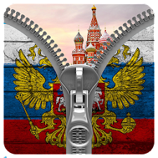 Russia Flag Zipper LockScreed