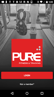 Pure Fit Webster Fitness app screenshot for Android