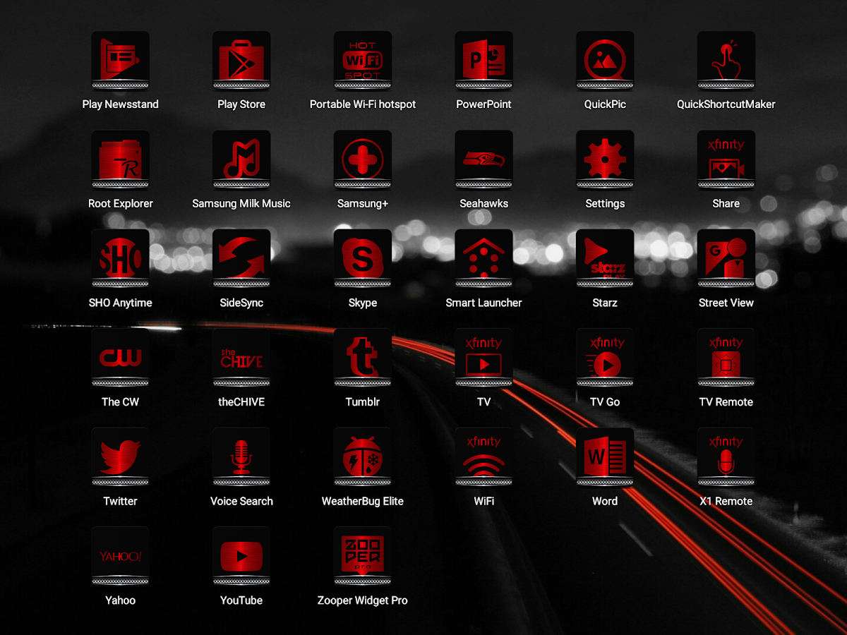 Exec Red Icon Pack Screenshot 11