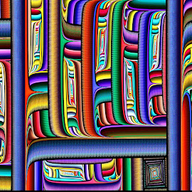 Julian Polar Windows by Peggi Wolfe - Illustration Abstract & Patterns ( polar, abstract, wolfepaw, gift, unique, bright, illustration, fun, digital, print, decor, pattern, color, unusual, julian, fractal )