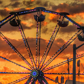 Ferris wheel sunset by Ann Goldman - Novices Only Objects & Still Life ( carnival, sunset, ferris wheel )