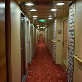 Cruise Ship Hallway by Ada Irizarry-Montalvo - Buildings & Architecture Architectural Detail