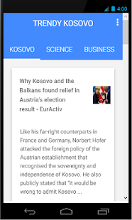Trendy Kosovo - screenshot