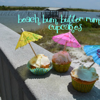 Beach Bum Butter Rum Cupcakes