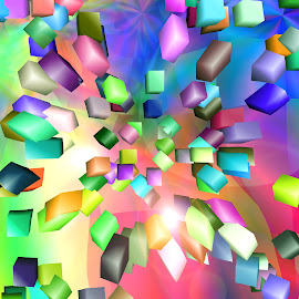 Abstract background by Alesanko Rodriguez - Illustration Abstract & Patterns ( abstract, pattern, art, background, coloring, cubes, illustration', design )