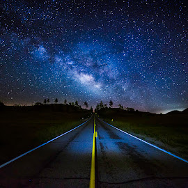 Milky Way Highway by Todd Argetsinger - Landscapes Starscapes ( long exposure, astrophotography, landscape, starscape, milky way )