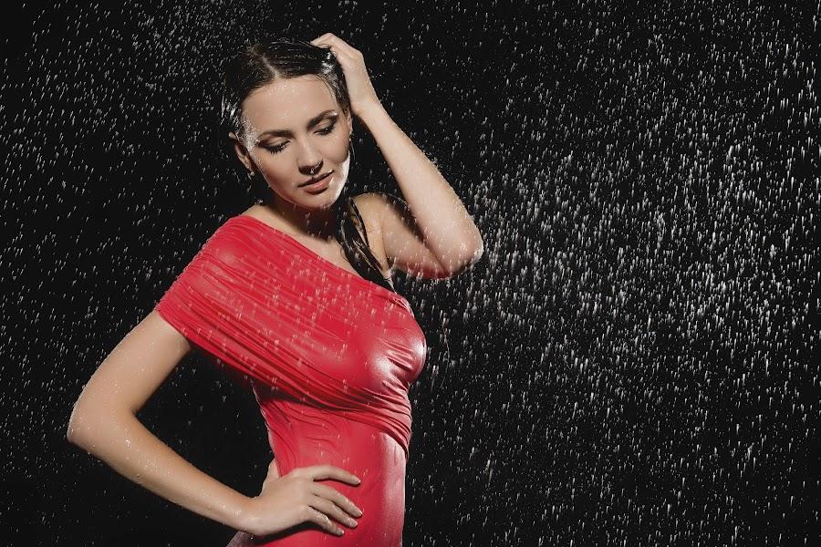 Lady In Red 2 by Carl0s Dennis - People Fine Art ( studio, red, women, lady,  )