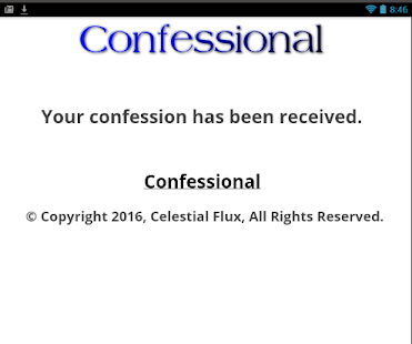 Confessional - screenshot
