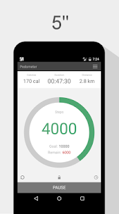 Pedometer Step Count Walking Fitness app screenshot for Android