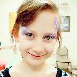 Green Eyes by Natasha Lena - Babies & Children Children Candids ( warrior, family, green eyes, fun, face painting )