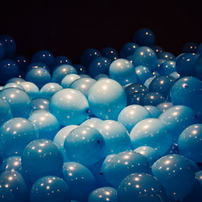 Blue balloons by Edi Libedinsky - Artistic Objects Other Objects ( blue, latex, show, party, balloon,  )