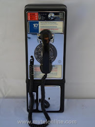 Single Slot Payphones - NJ Bell 1C Coiled Cord loc LP4 1