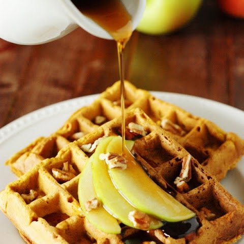 Pumpkin-Apple Waffles