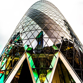 The Gherkin, London by Matt Cooper - Buildings & Architecture Architectural Detail ( uk, building, london, glass, pwcdetails, cloud, design, city )