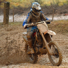 Muddy Race by Marco Bertamé - Sports & Fitness Motorsports ( bike, rainy, motocross, muy, motorcycle, clumps, race, accelerating, competition )