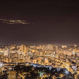 City by night by Martonio Paleka - Uncategorized All Uncategorized ( city lights, cityscape, landscape, city )