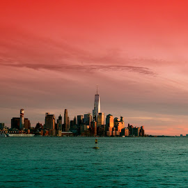 One Tower N.Y.C. by Eurico David - City,  Street & Park  Skylines