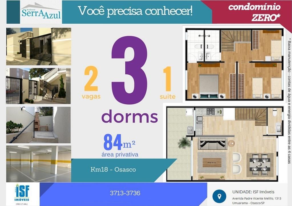 Casa 3 Dorm, Pestana, Osasco (CA0876)