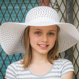 The Hat by Judy Deaver - Babies & Children Child Portraits ( portrait, hat )