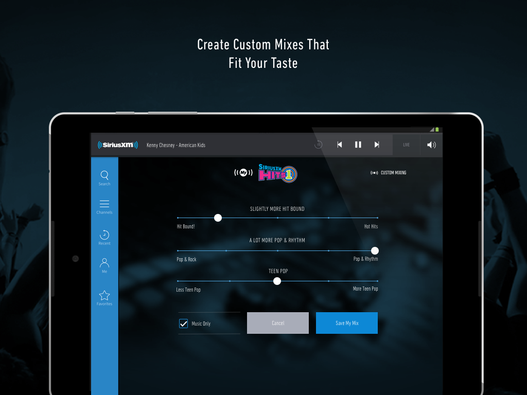 SiriusXM android apps download