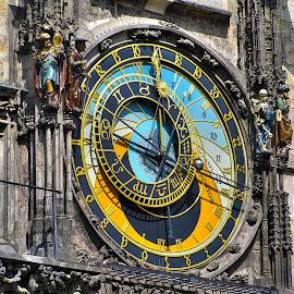 Prague ... by Slavko Marčac - Buildings & Architecture Public & Historical ( time, towers, town, hour )