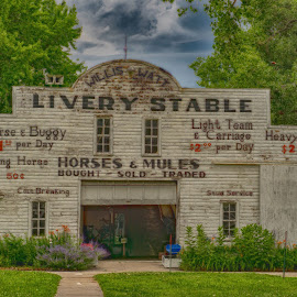 Livery Stable  by Jeff Brown - Buildings & Architecture Public & Historical ( horse, public, stable, history )