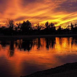 River Walk Park at Dusk by Joel Padilla - Novices Only Landscapes