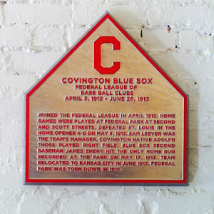 Fun fact: Ball hit over the fence was ground rule double. Only one HR ever hit in park was inside-the-park, by James Emery. The photo is the mold (that hangs in my office) from the plaque that ...