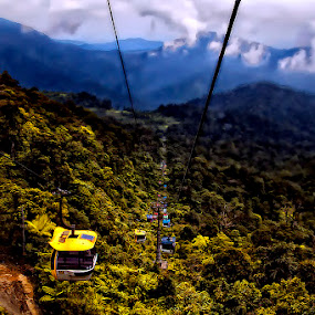 cable car by Rona Rojo - Landscapes Travel ( hills, mountain, cable car )