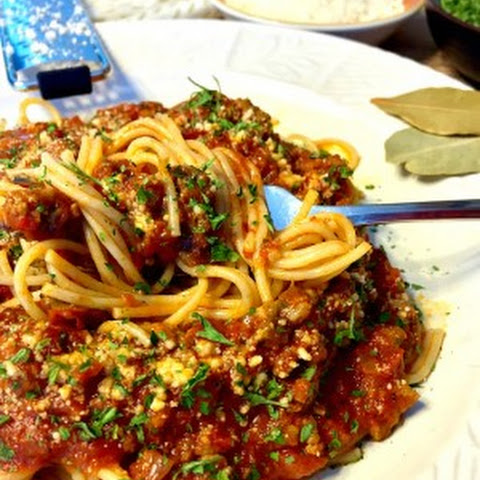 Bolognese Sauce with Angel Hair Pasta