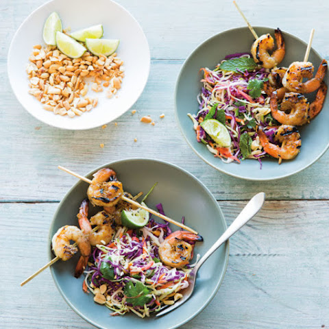Vietnamese Slaw with Lemongrass Shrimp and Peanuts
