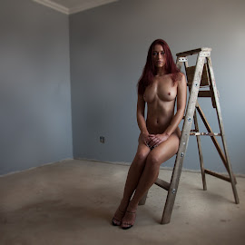 The Ladder by Anco Pretorius - Nudes & Boudoir Artistic Nude ( ladder, model, nude, empty, beauty )