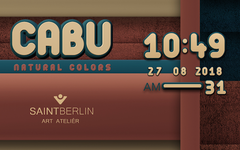 Cabu Digital Clock Widget - screenshot