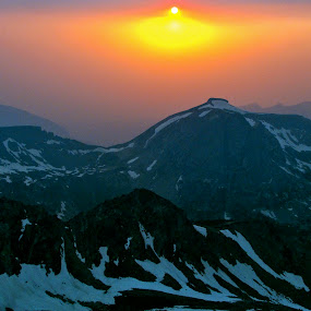 Mars? by Emily Jones - Landscapes Mountains & Hills ( mountains, mars, sunset, snow, grand teton )