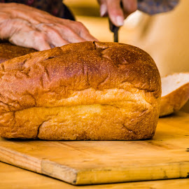 205-05-02 Bread by John Rourke - Food & Drink Cooking & Baking ( civil war reenactment, bread, california, 2015, cutting board )