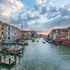 Grand Canal, Venice  (we thought it looked like Islands of Adventure or a movie set - it was that perfect) :) by Theresa Rasmussen - City,  Street & Park  Skylines