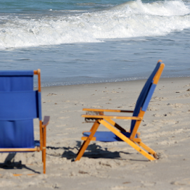 Two Chairs by Leah Zisserson - Artistic Objects Furniture ( sand, chairs, florida, beach, surf,  )